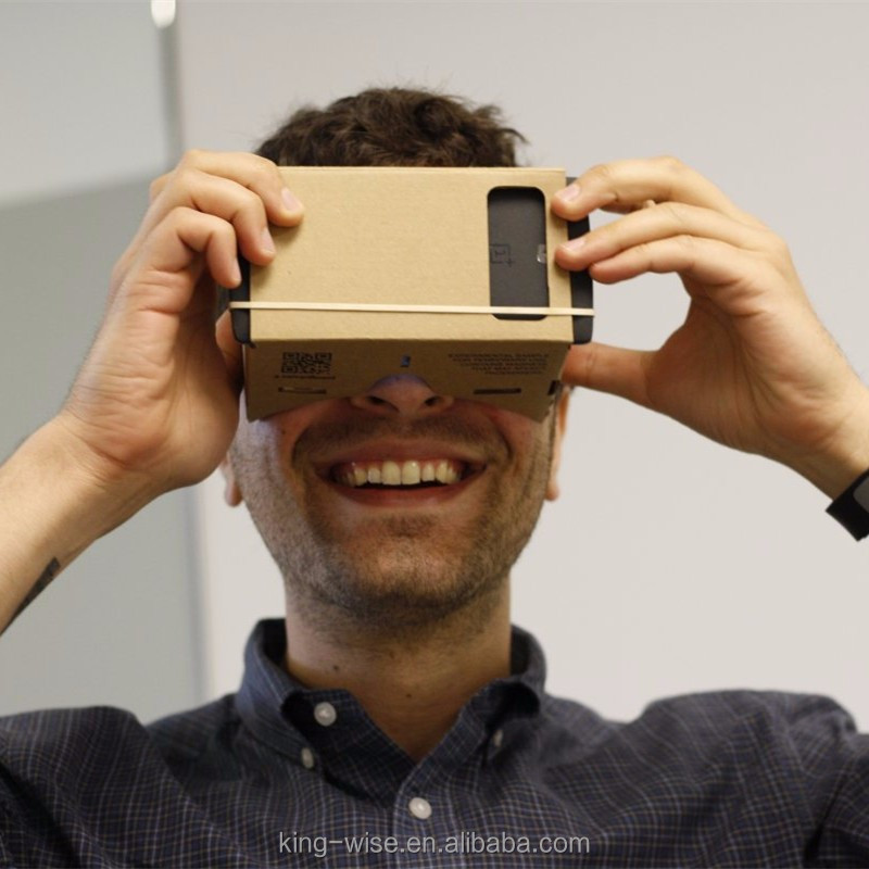 Cheapest DIY Cardboard Virtual Reality VR Google 3D Glasses For Mobile phone