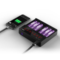 LUC 6 bay lcd multi-functional charger original Efest LUC V6 lcd & usb charger with US/EU/UK plug