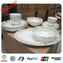 New Products 2014 Hot FDA Approved Dinnerware Dishes Sets For Dinner Dinning/ India Opal Glass Ware Dinner Set Buyers Price