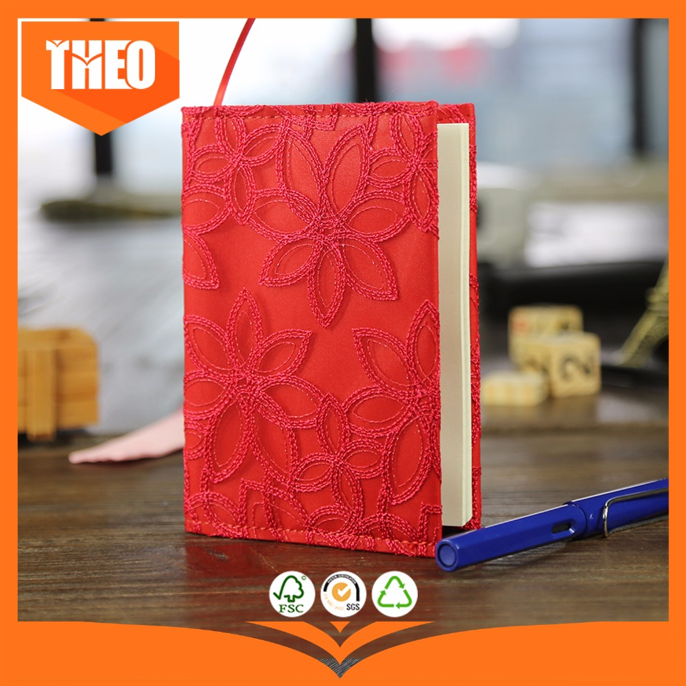 Lace cloth cover blank paper 80 sheets pocket notebook