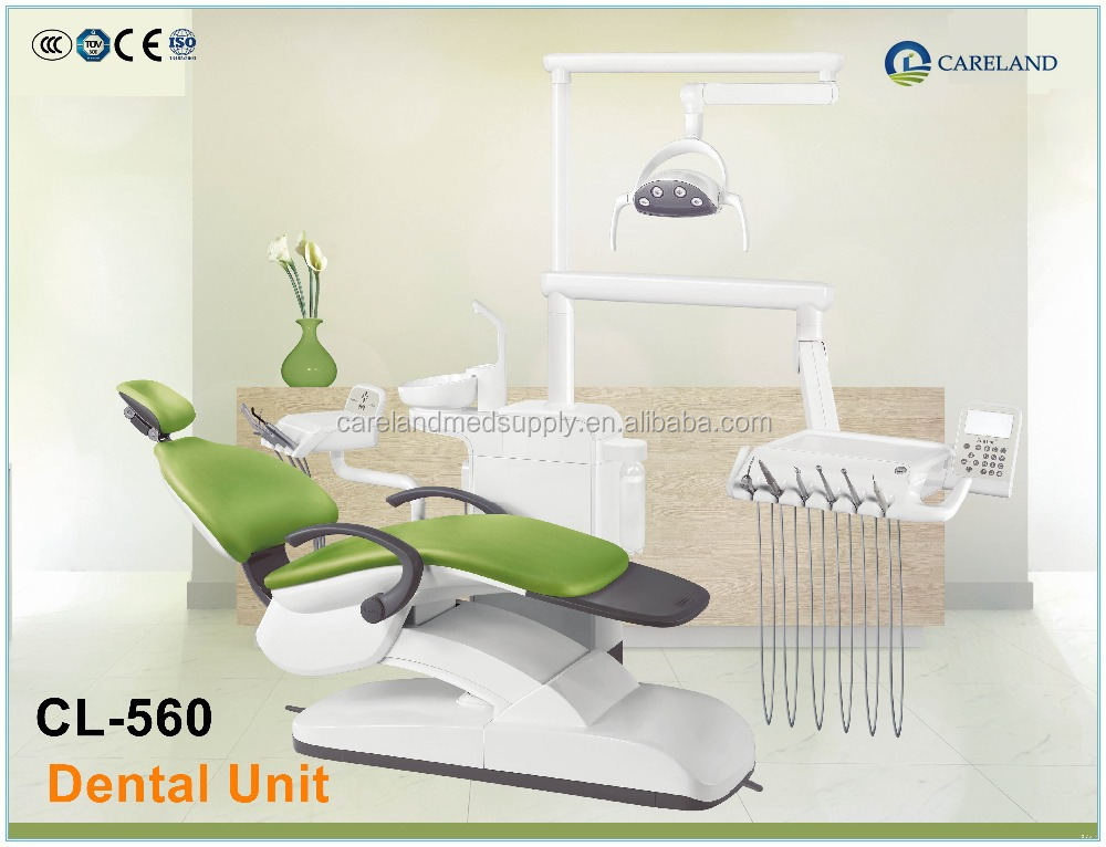 CE approved CL-560 electrical pneumatic dental chair unit lab equipment with air compressor LED operation Light