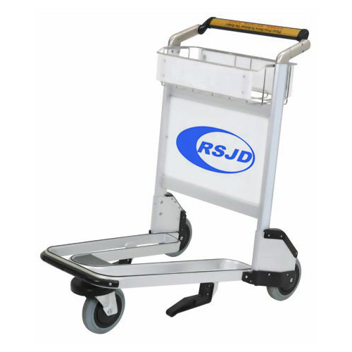 3 castor aluminum airport push trolley cart with brake