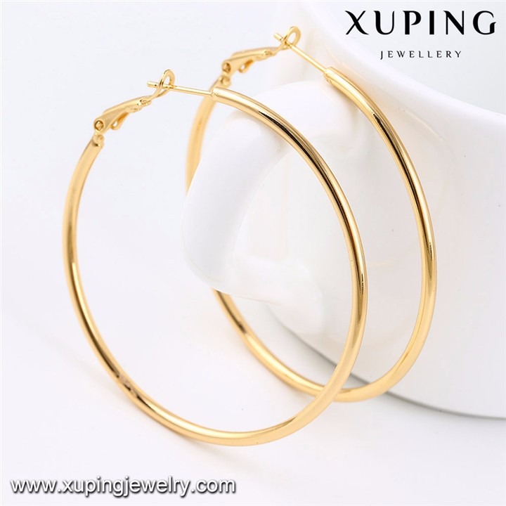 92417 Xuping Jewelry Simple and Popular Hoop Earrings with 18K Gold Plated