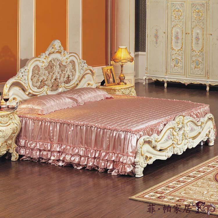 Antiguo barroco europeo muebles clásicos muebles de madera-Camas ...