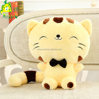 High Quality Smile Plush Cute Big Face Speckle Cat Toys For Sale