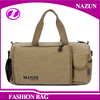2016 Large capacity good quality canvas men's duffel bag and male handbag from Alibaba