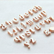 New style fashion 2015 unique factory product OEM rose gold plated slide alphabet beads pendant wholesale