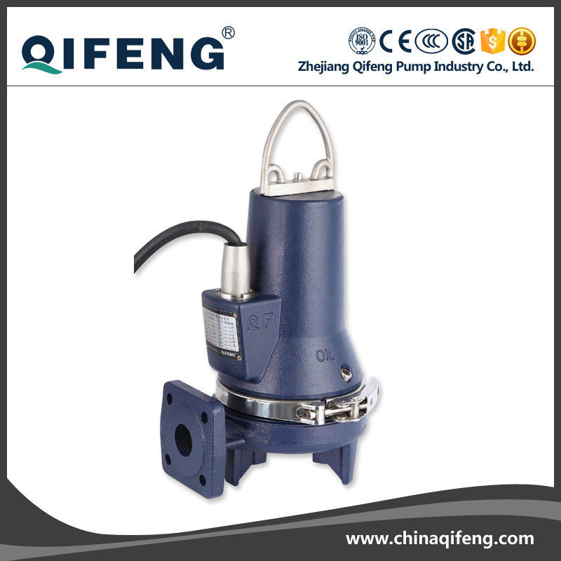 NON-CLOG cut submersible waste water pump with control box