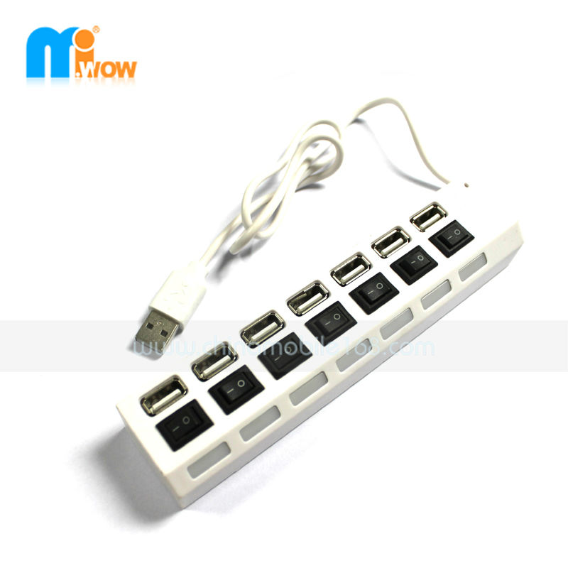 Practical multi function 2 port usb hub for computer