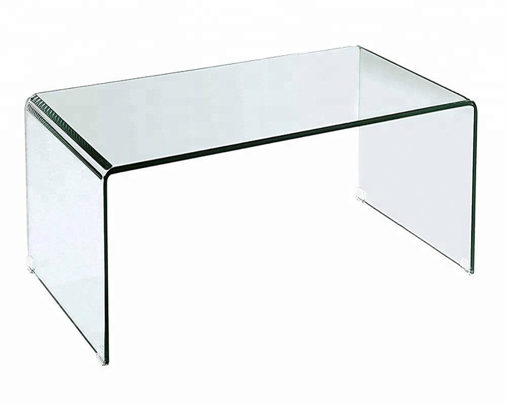 Classic hot curved bent 12mm clear tempered glass coffee <strong>table</strong>