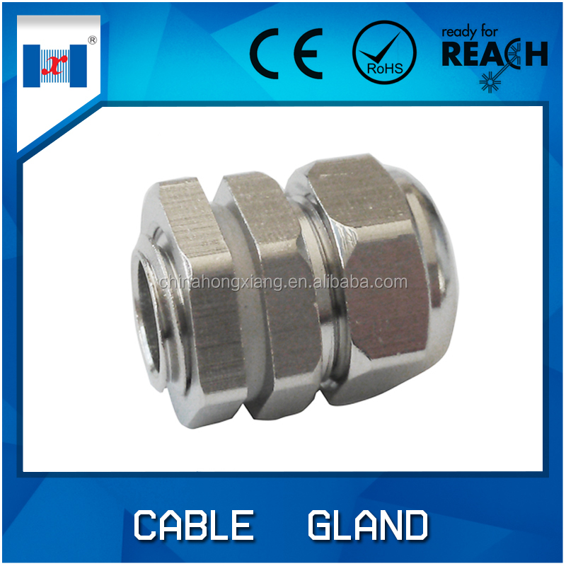 "HongXiang 1 / 2"" npt brass cable gland rubber for cable"
