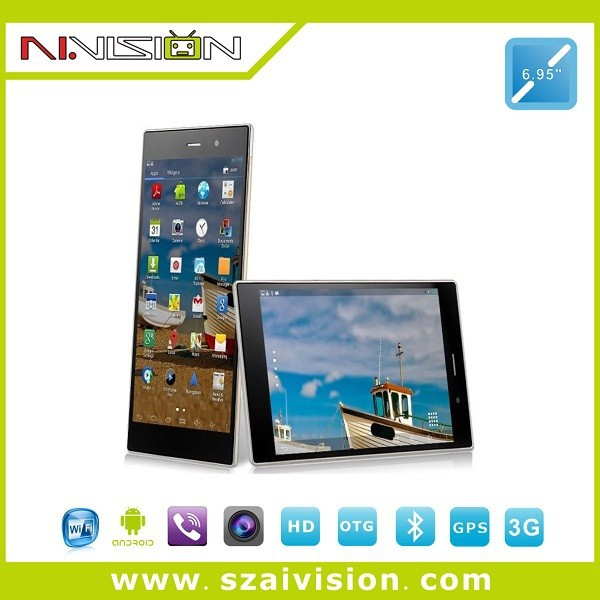 6.95inches 3G phone call tablet pc with 13mp camera