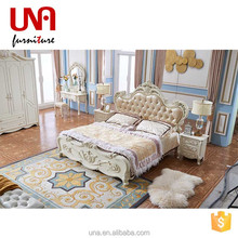 Una furniture luxury furniture king size bed wooden french antique bedroom furniture set