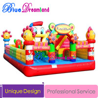 Unique design Outdoor Inflatable bouncer castle trampoline castle jumping climbing
