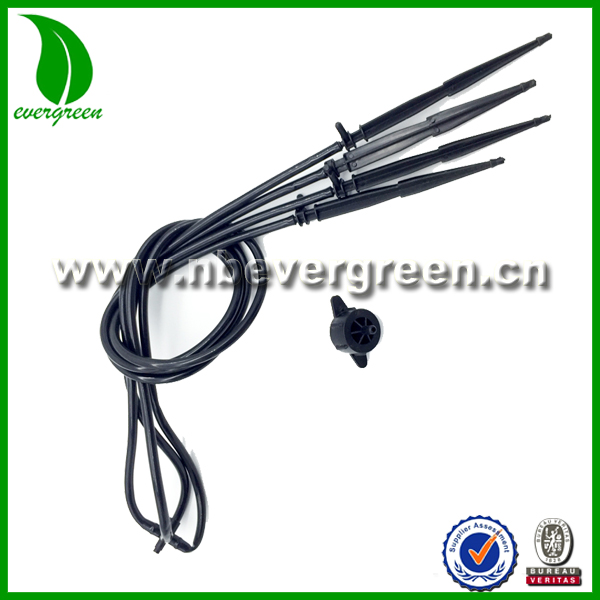 Straight Arrow Dripper Four Branches Micro Drip Irrigation Greenhouse With Steady Flow Device Dripper Irrigation System