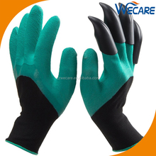 Seamless Knitted Women Digging And Planting Waterproof Working Safety Hand Claws Garden Genie Gloves