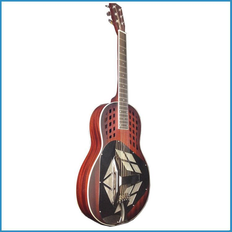 Wooden resonator guitar, China resophonic guitar, 3 pc resonator guitar