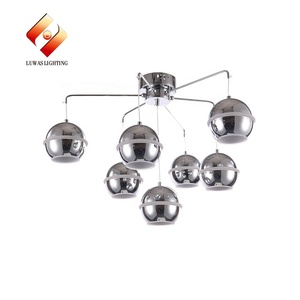 Lights Glass Chandelier Decoration Indoor Pendant Hanging LED Light