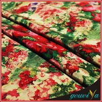Custom Polyester Silk Digital Printed Brocade Fabric