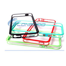 Colourful Clear Bumper Frame Silicone Protectorc case for iPhone 5 5G
