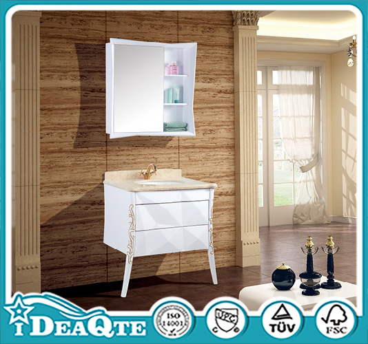 <strong>Oak</strong> Wood Cabinet PVC Wall mounted Wash Bathroom Vanity Cabinet