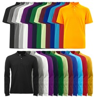 OEM Colorfast Preshrunk 100% Cotton Custom Mens Polo T Shirts