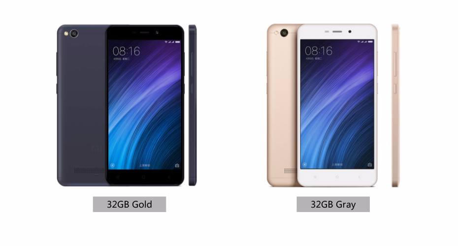 Wholesale Europe Global Version Xiaomi Redmi 4A 2GB RAM 32GB ROM Cellphone 1280x720p 3120mAh 13.0 MP Band B20 smartphone