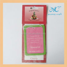 Promotional OEM printed paper air freshener corporate anniversary cards