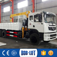 Chinese diesel engines truck with mini crane price