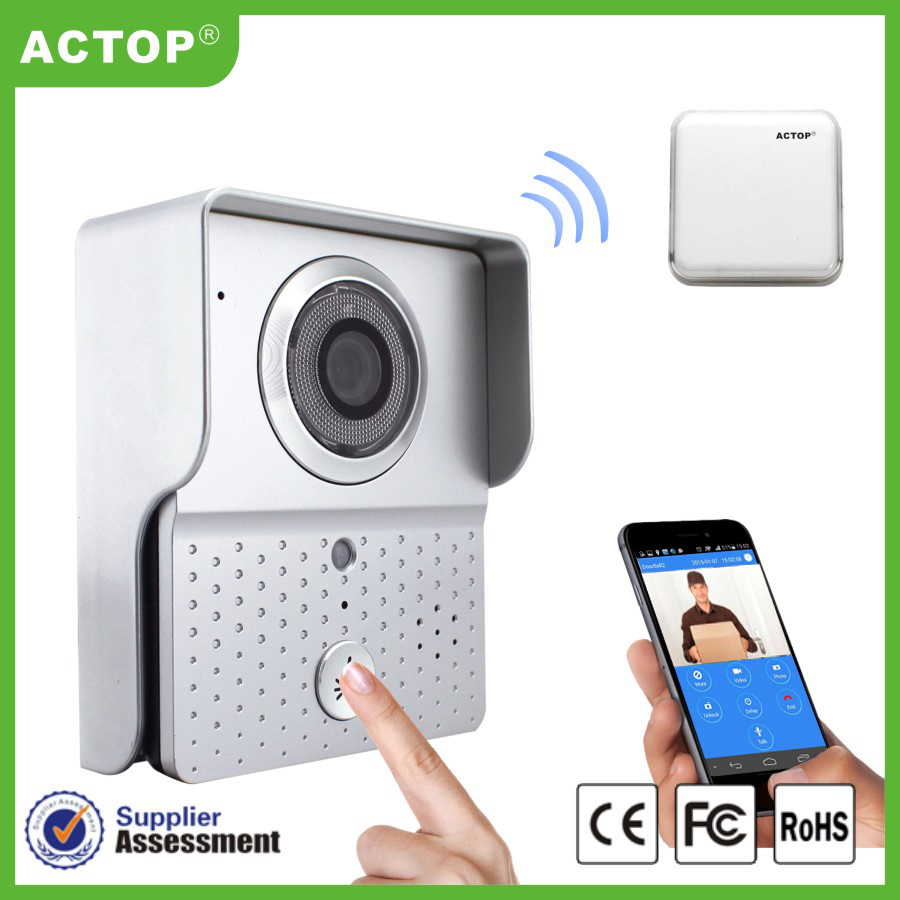 new arrival wifi video door phone intercom with small bell remoter comtrol on smart phone