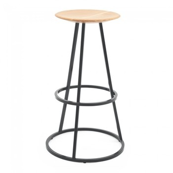 Modern Steel and Wood Barstool DS-L313