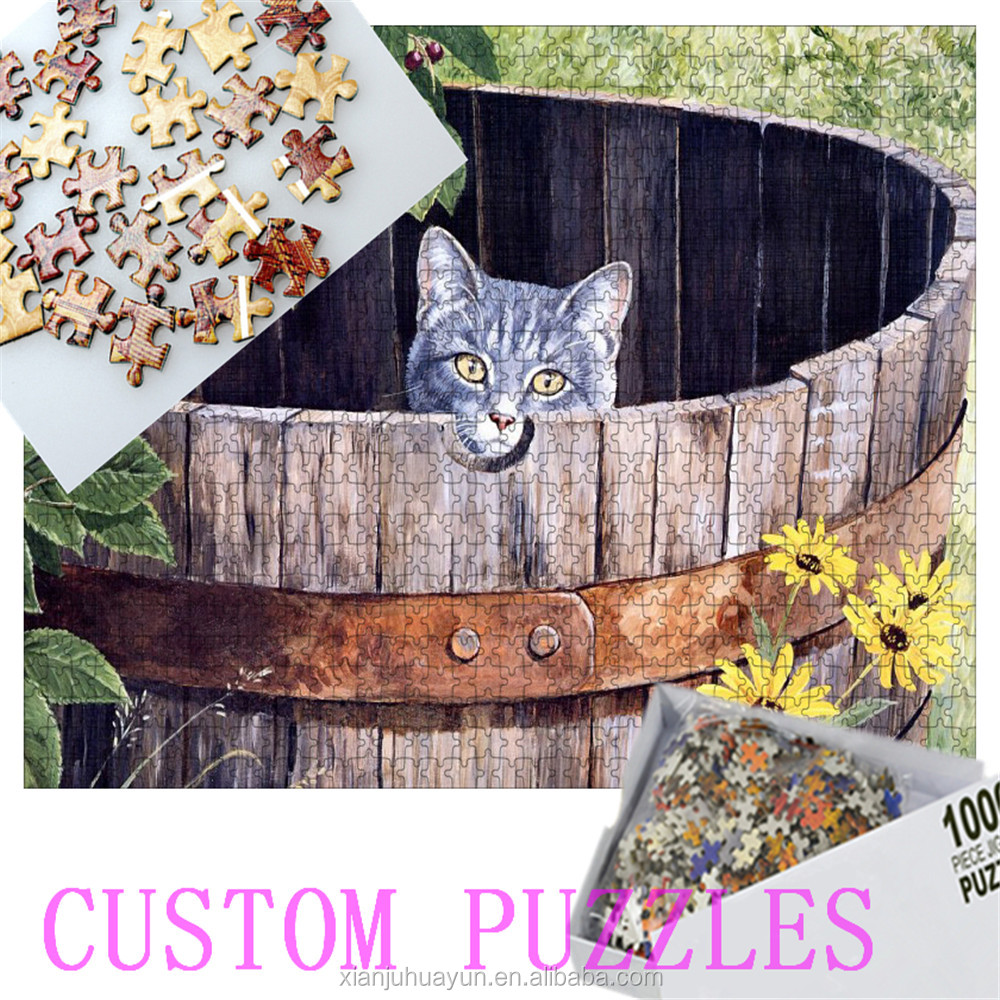 1000 pieces pictures customize paper jigsaw puzzles toys educational