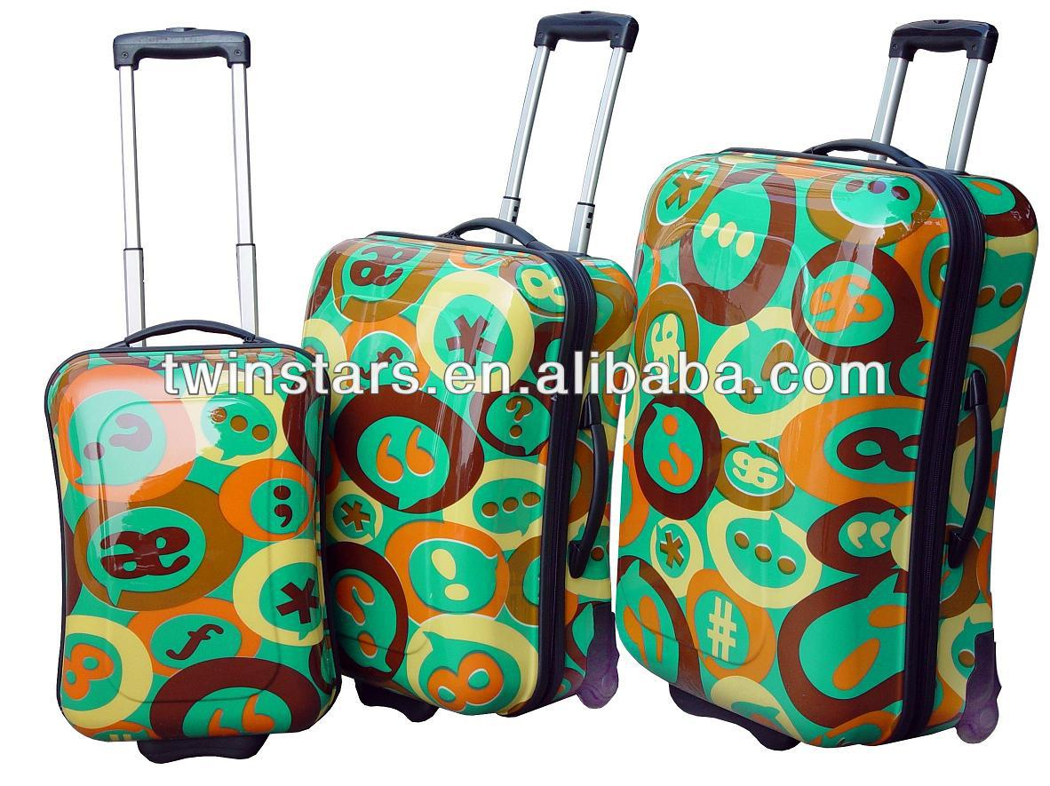 Shiny Hard PC Trolley Case & Suitcase & Bag in luggage Set