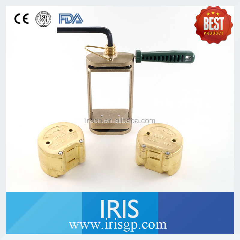 DENTAL LABORATORY LAB SPRING PRESS COMPRESS WITH TWO BRONZE FLASK