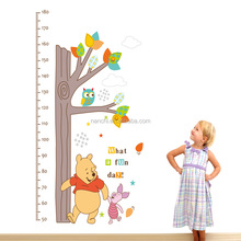 Hot selling funny animals tree height wall stickers baby bedroom living room kids rooms wall decal baby height meter decoration