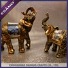 Newest polyresin elephant figurines animal crafts gift sets