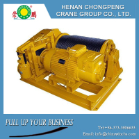 Self-made strong drum fast line speed electric winch