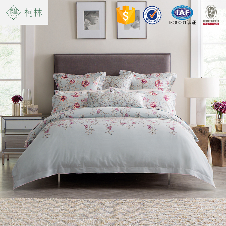 New arrival fashion 100% cotton custom printed bedding sets bed sheets