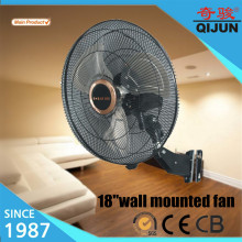 Black grill reversible wall fan/Moderm office wall mount oscillating fan