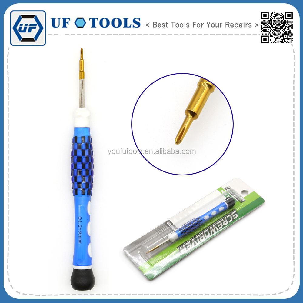 Wholesale Blue Handle 1.2 mm Phillips S2 Material Screwdriver,Precision Screwdrivers for iPhone