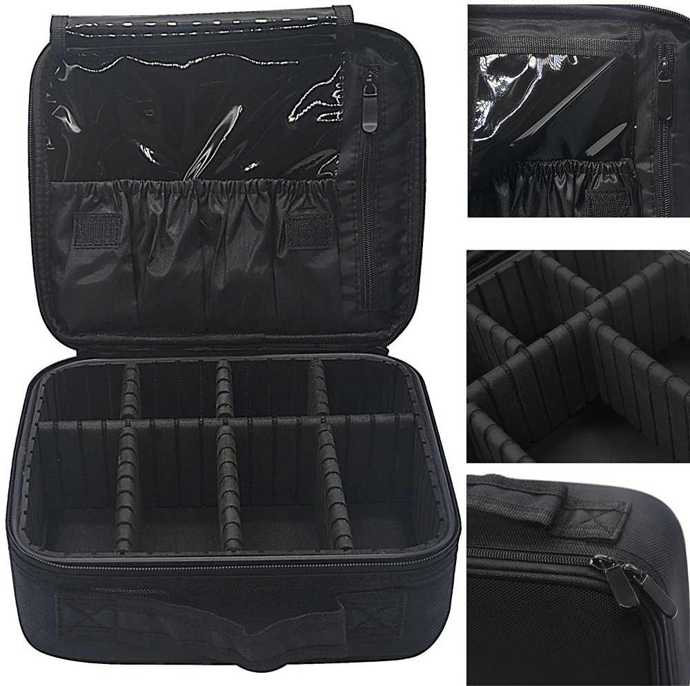Professional Make Up Artist Storage Portable Makeup Train Jewelry Case
