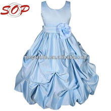 Royal Blue Taffeta Flower Girl Dresses