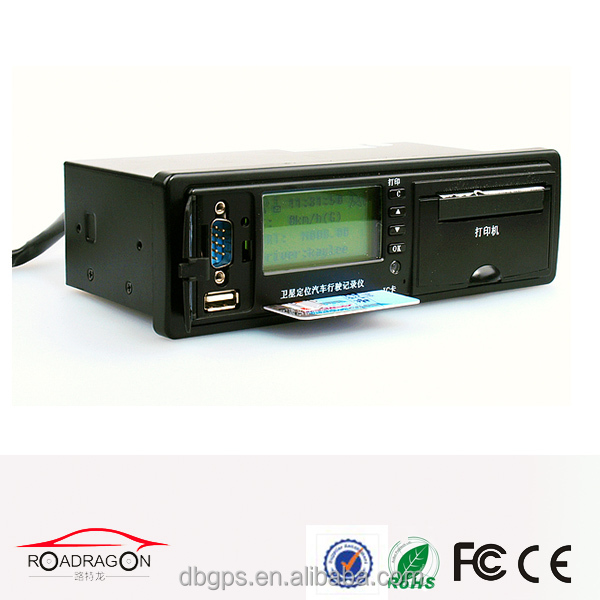 guangdong vehicle traveling data recorder, programmable digital gps tachograph G-V301 with sms remote engine stop