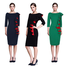 X86495A Sexy Ladies office Bodycon Dress Women Formal Party Business Pencil Dresses