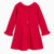 Holiday and winter long sleeve red color girls beautiful dress
