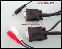 high quality rca cable with ground wire to vga cable