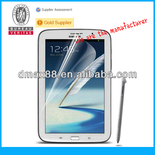 Screen protector for 8 inch tablet for Samsung galaxy note 8.0 oem/odm (Anti-Glare)