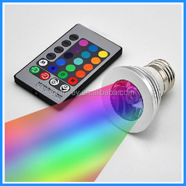 china supplier hot new products for 2014 e27 remote control 16 color rgb led spotlight solar garden