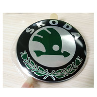 84mm Car Brand Round Logos Emblems For Skoda