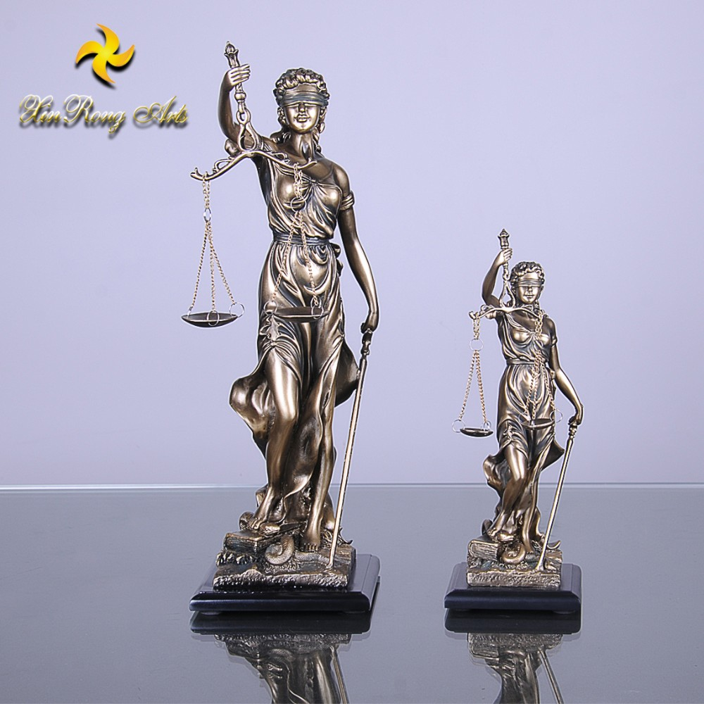 Hot selling lady figurine resin justice figurine